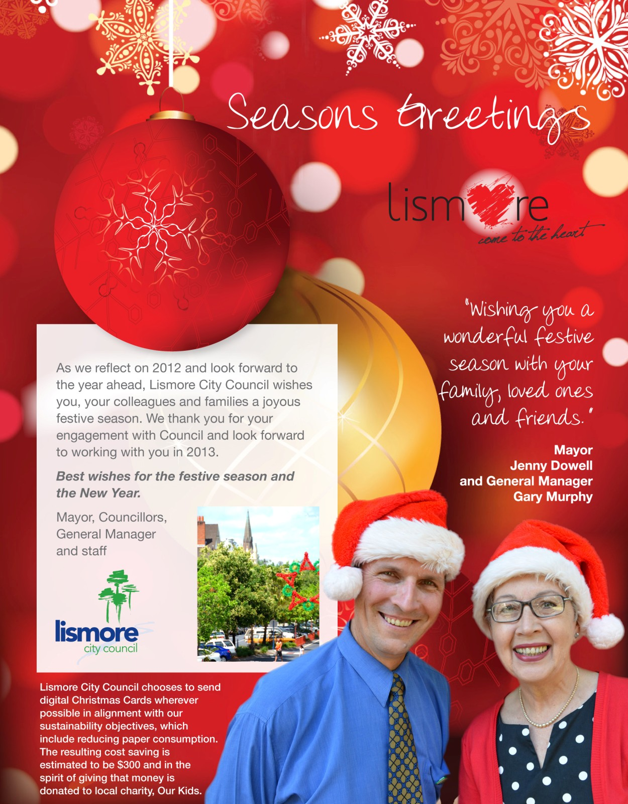 Christmas Card from Lismore City Council 2012