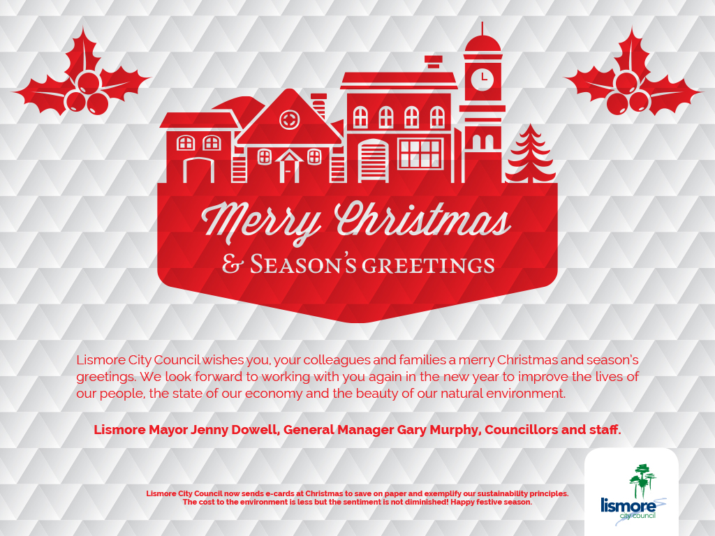 Lismore City Council Christmas Card